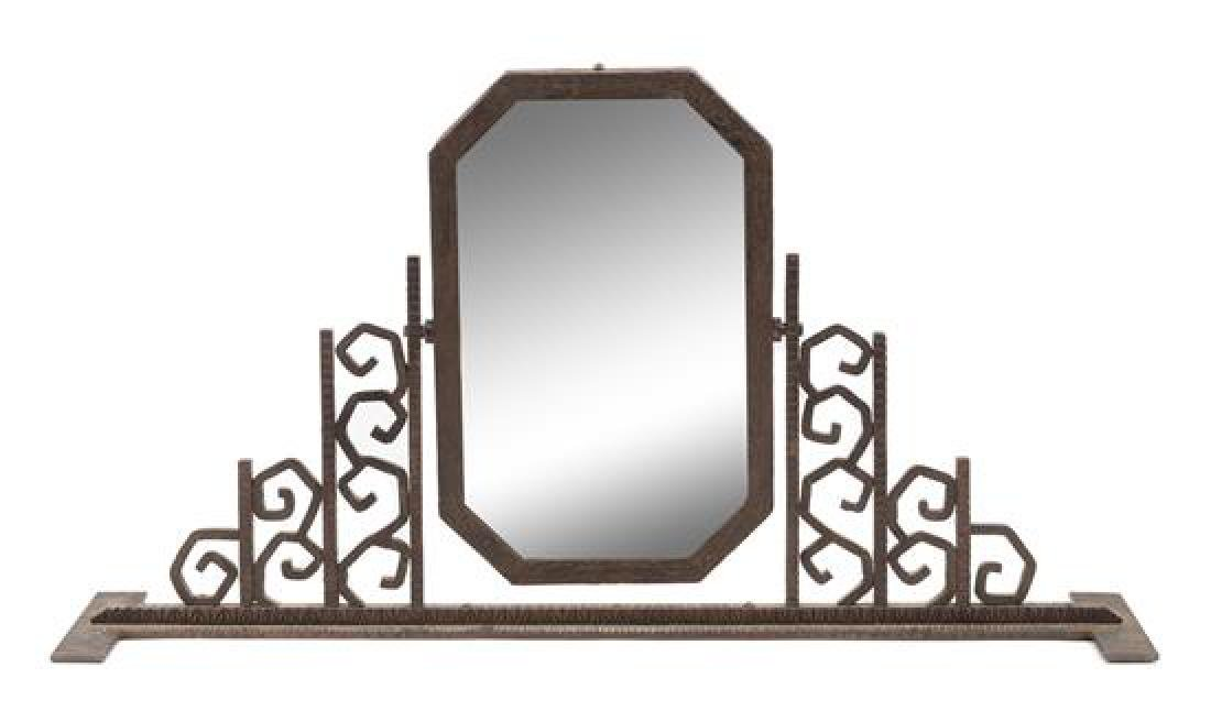 Art Deco, France, c.1930, table mirror
