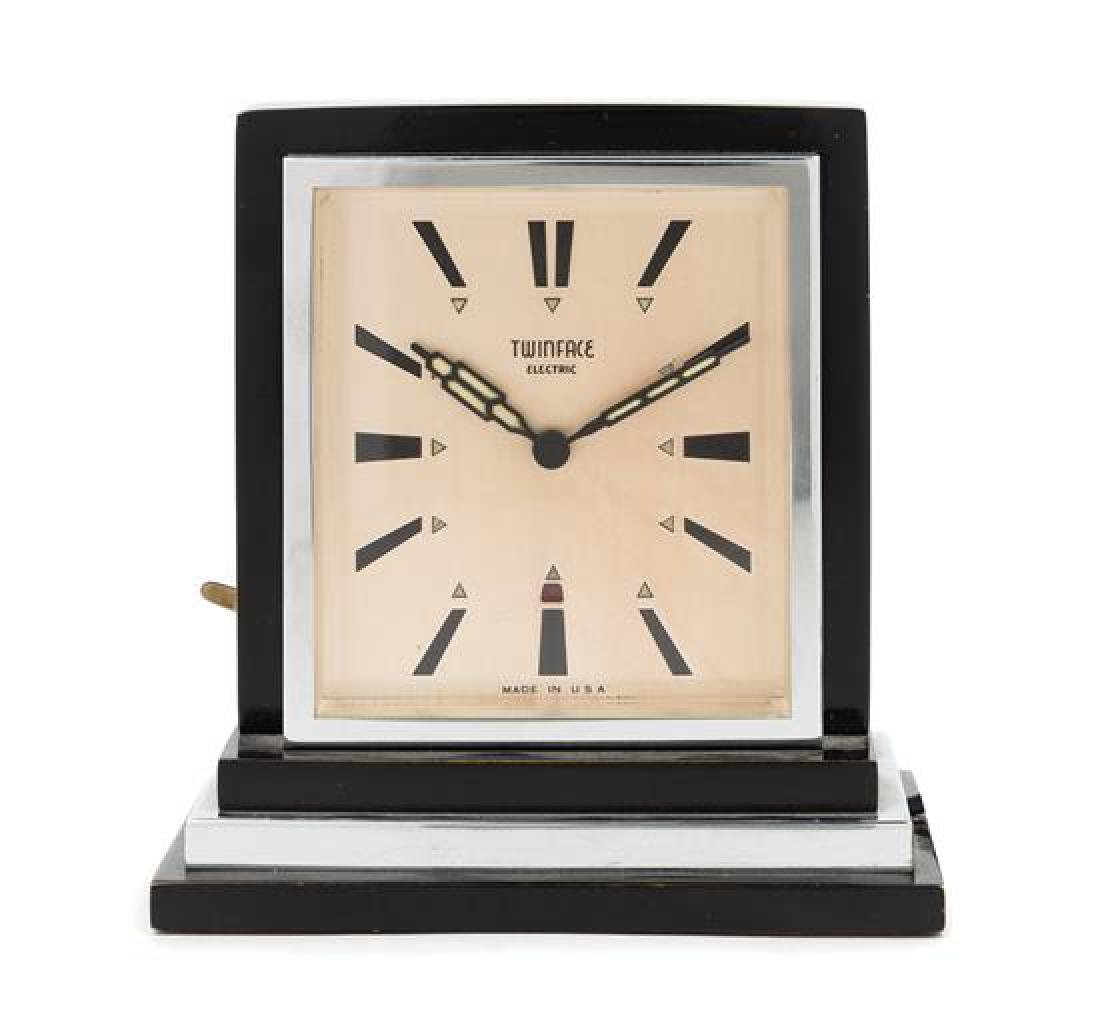 Art Deco, Twin Face Electric, USA, a twin-faced clock
