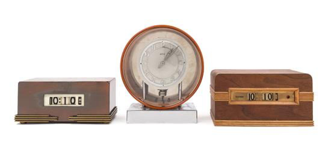 Art Deco, FIRST HALF 20TH CENTURY, a group of 3 clocks