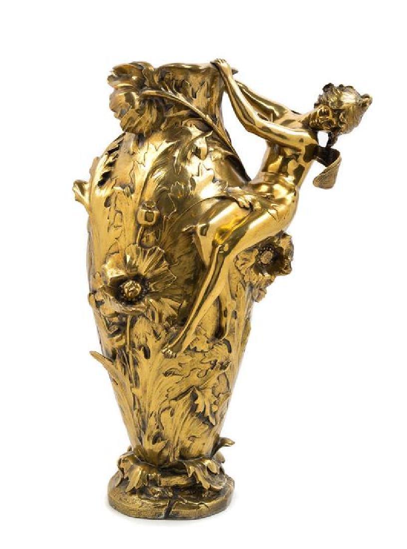 Francois & Louis Moreau, (French), an Art Nouveau vase,