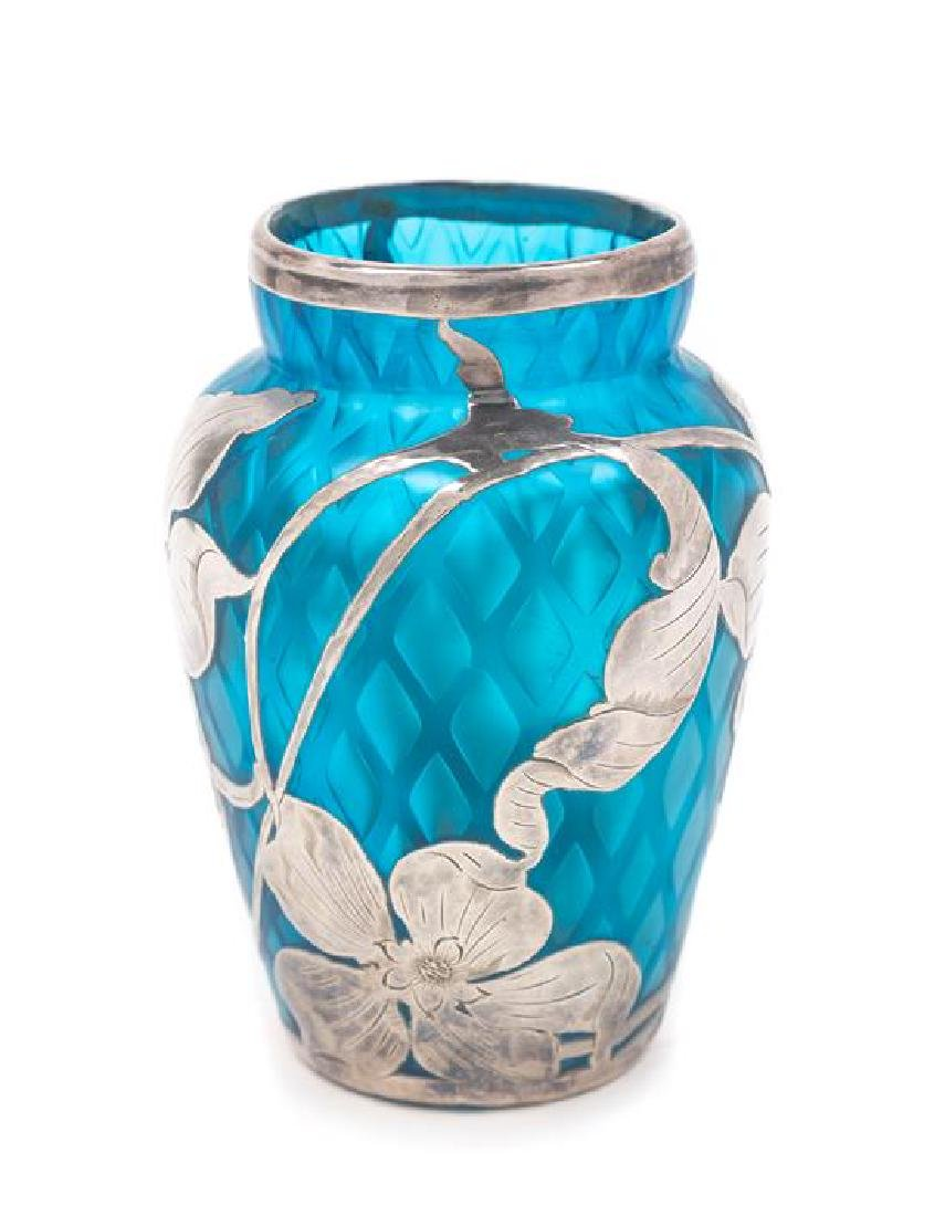* Loetz, EARLY 20TH CENTURY, a silver overlay vase, of
