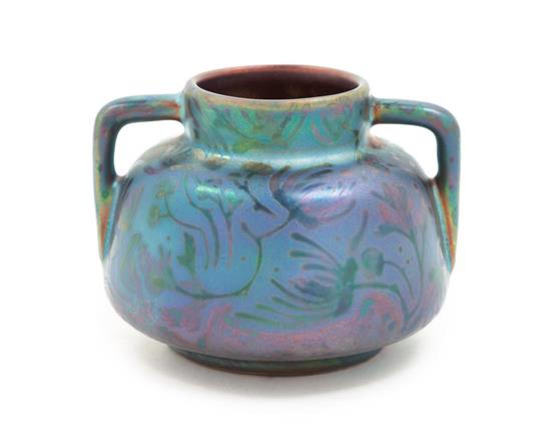 Weller Sicard, EARLY 20TH CENTURY, a handled vase