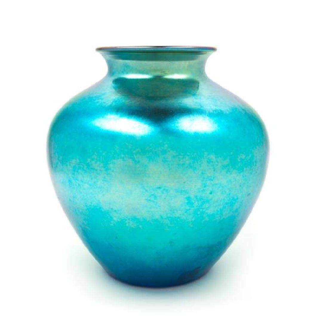 Steuben, EARLY 20TH CENTURY, a blue Aurene glass vase