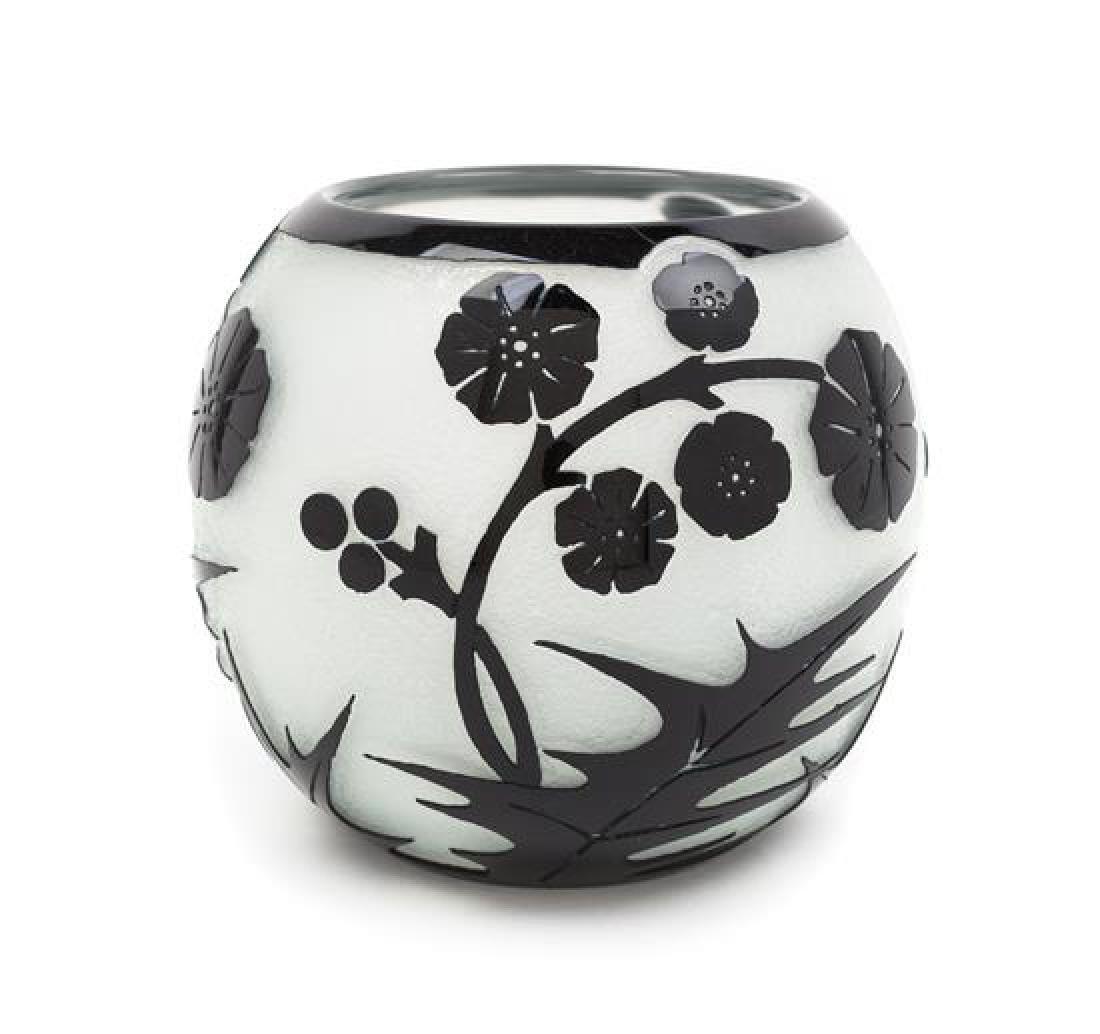 Steuben, FIRST HALF 20TH CENTURY, a cameo glass vase,