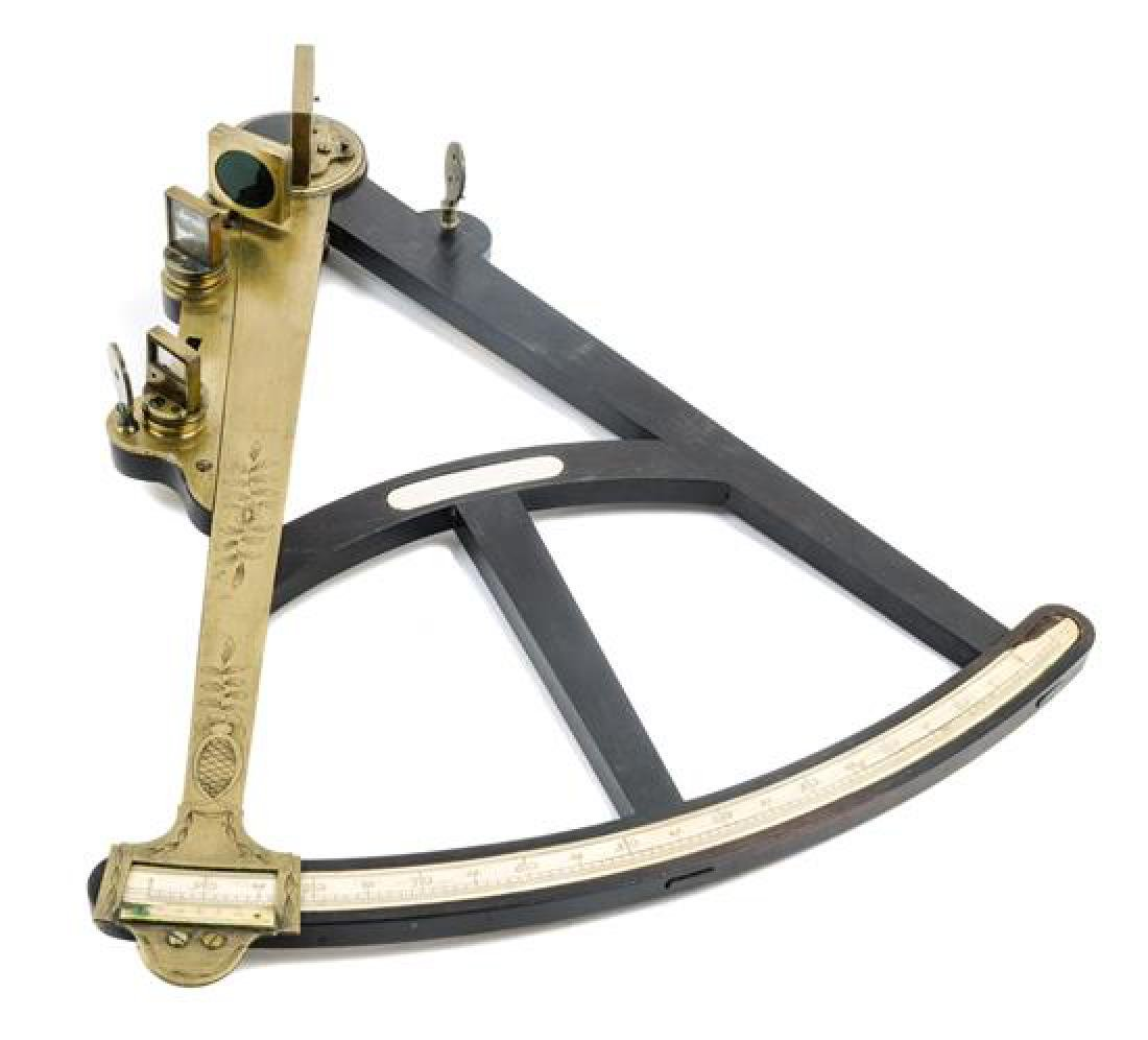 * An English Ebony and Brass Mounted Octant Radius 17