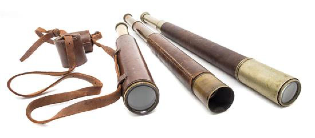 * A Group of Three Leather Body Field Telescopes