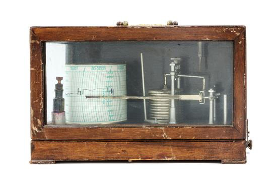 * An English Mahogany Cased Barograph Height of case 8