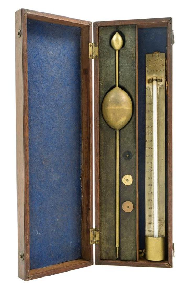 * An English Brass Hydrometer Length of hydrometer 13