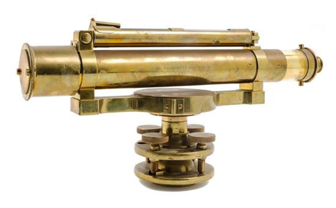* An English Brass Surveyor's Telescope Length 15 1/4