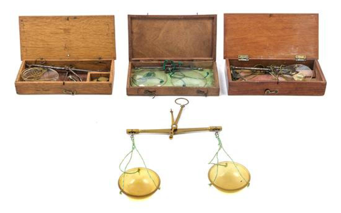 * A Group of Four Portable Balance Scales Width of