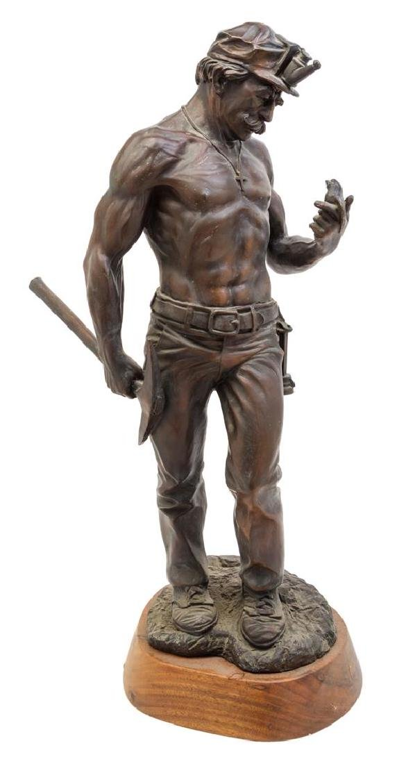 * An American Cast Metal Figure Height of statue 22