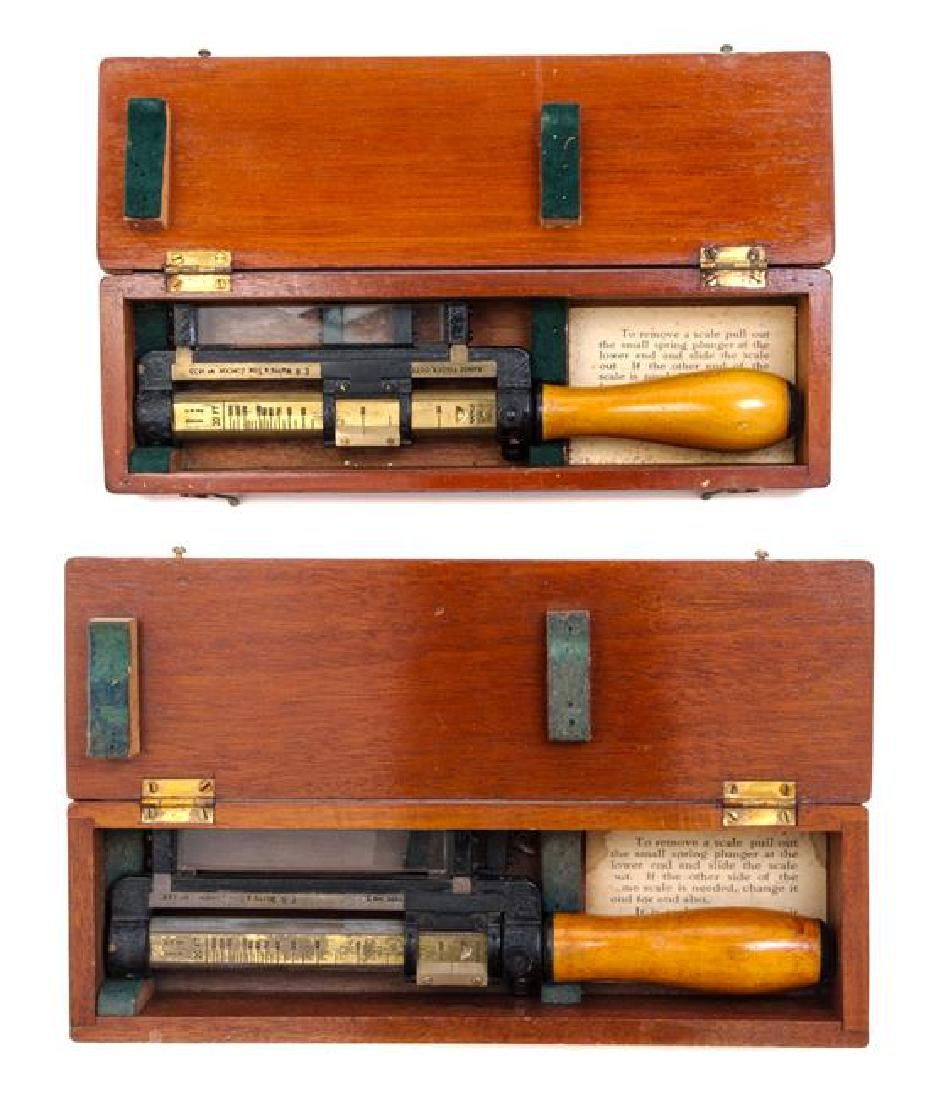 * A Pair of English Brass and Wood Rangefinders Length