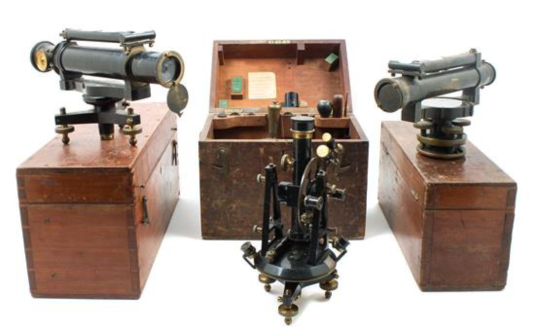 * A Group of Three Theodolites Length of longest scope