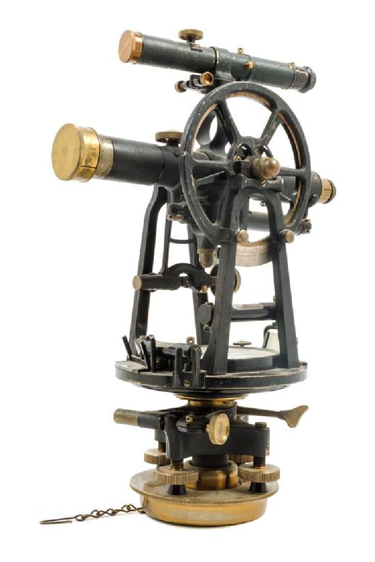 * An American Brass and Parcel Ebonized Surveyor's