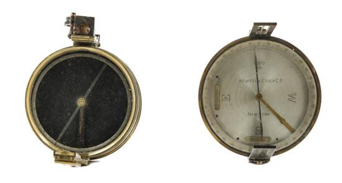 * A Group of Two Brass Compasses Diameter of larger 4