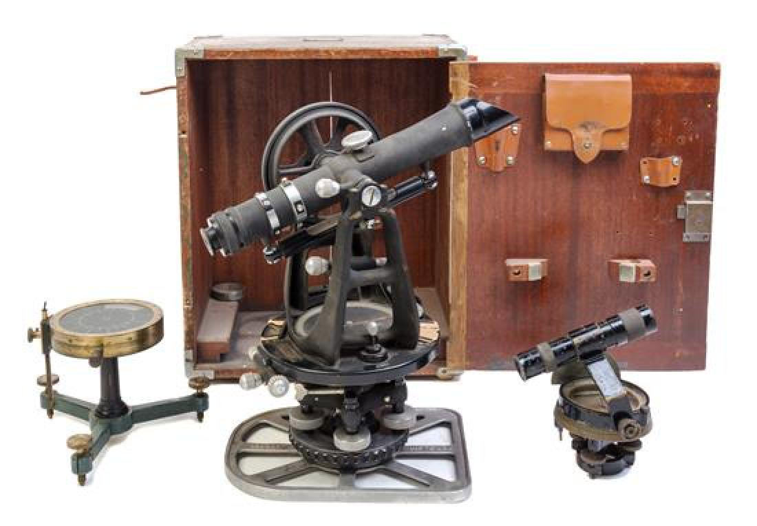 * A Group of Three Surveyor's Instruments Length of