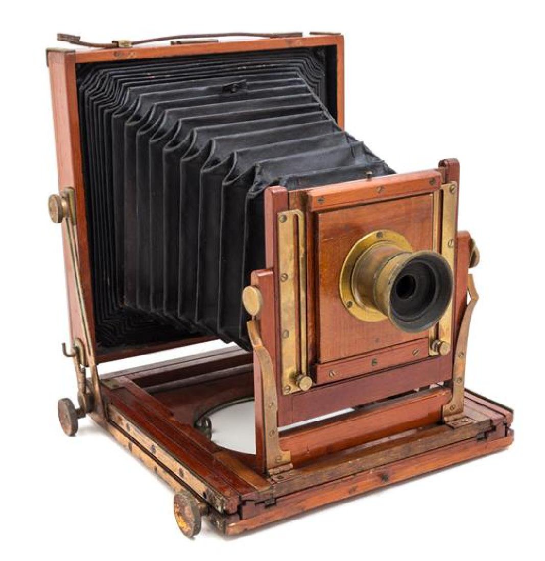 * A Wood Cased Field Camera Height of case 9 1/2 x