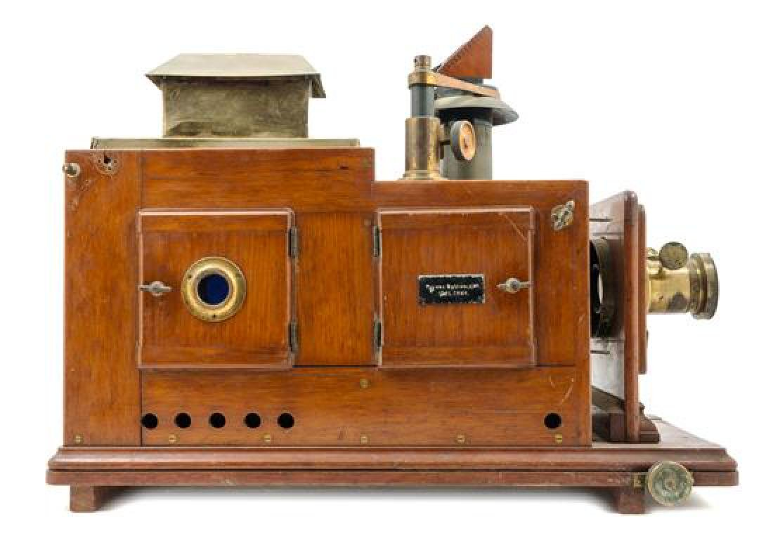 * A Brass Mounted Wood Scientific Demonstration