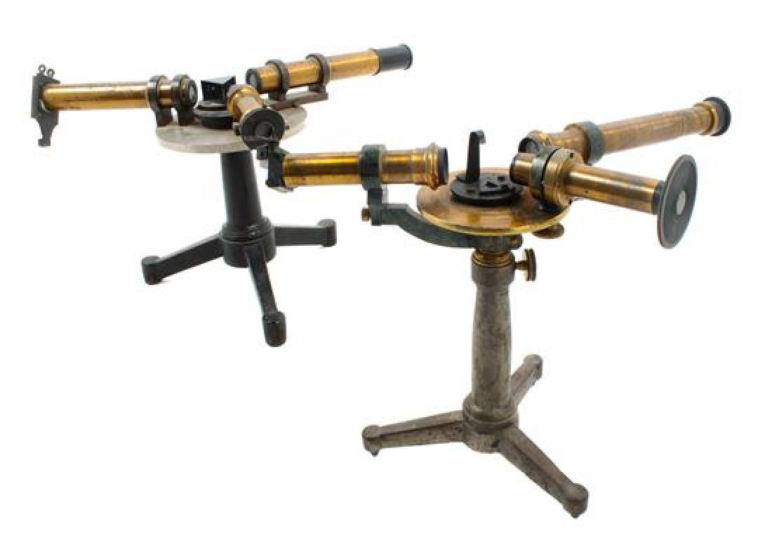* Two Brass Tube and Metal Mounted Spectroscopes Height