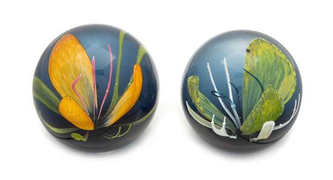 * Caithness Glass, Scotland, two glass paperweights,