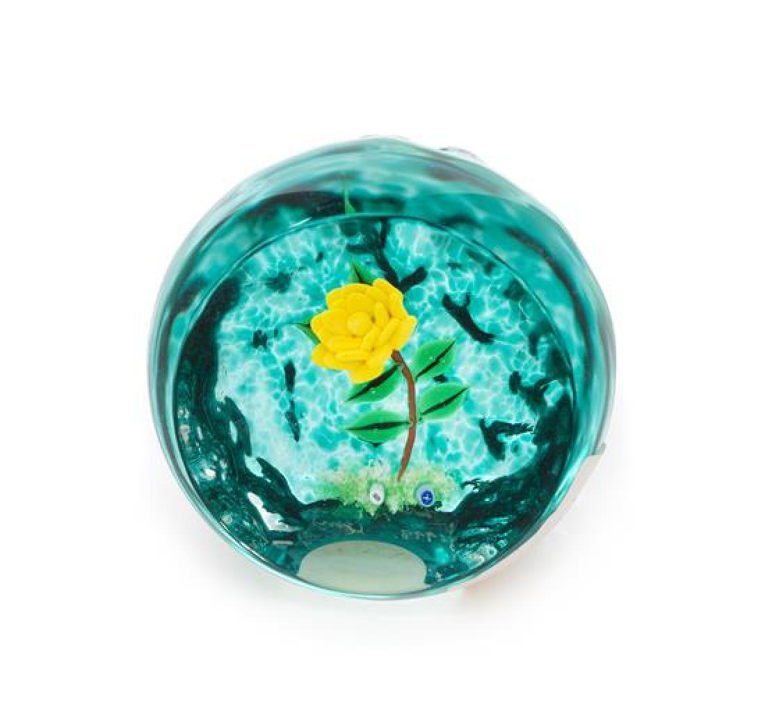 * William Manson, (Scottish), a flower paperweight,