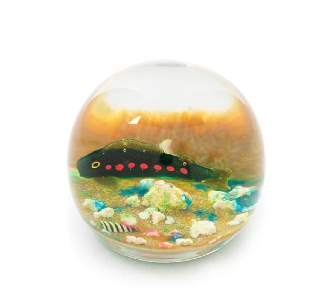 * Paul Ysart, (Spanish, 1904-1991), a fish paperweight