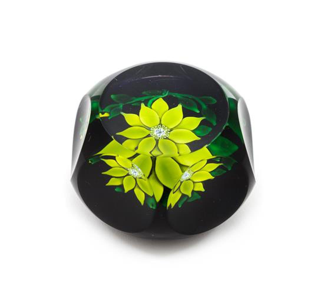 * Saint-Louis, France, a clematis paperweight, 1970