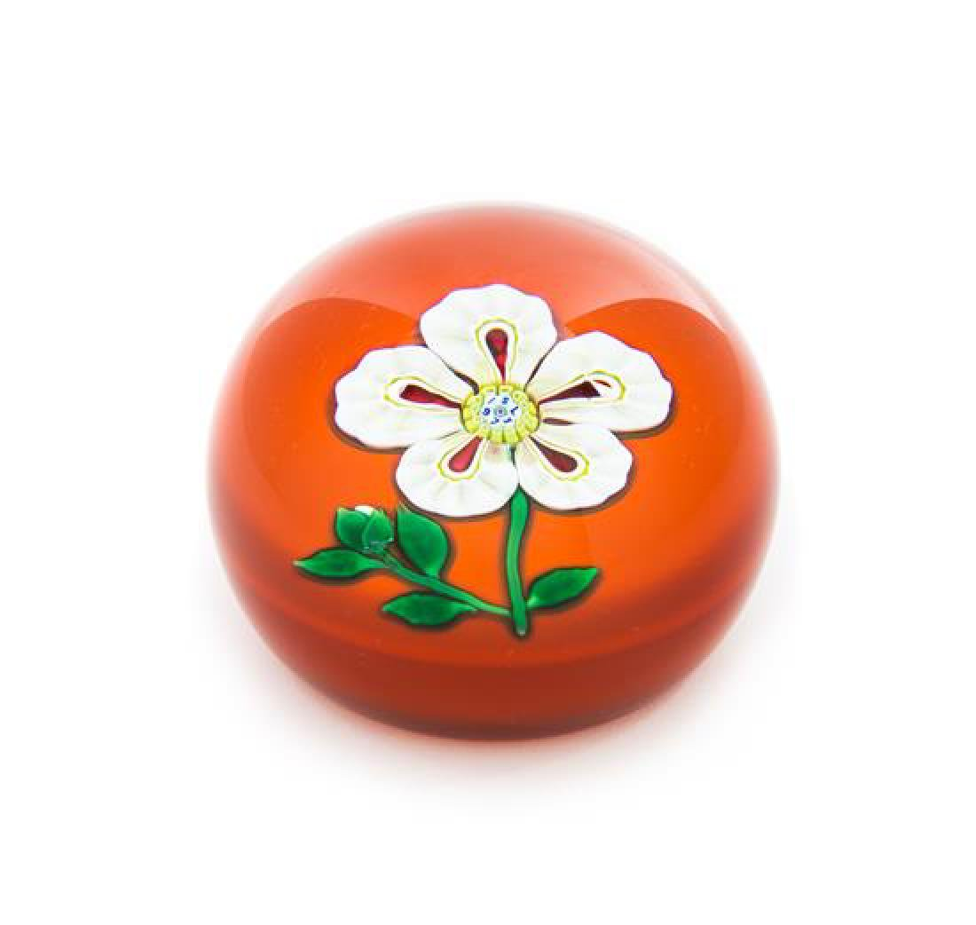 * Saint-Louis, France, a flower paperweight, 1973
