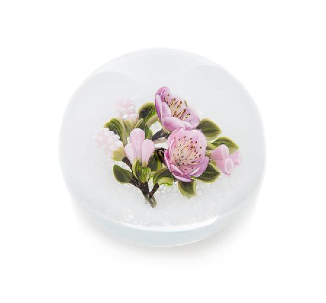 * Victor Trabucco, (American), a bouquet paperweight