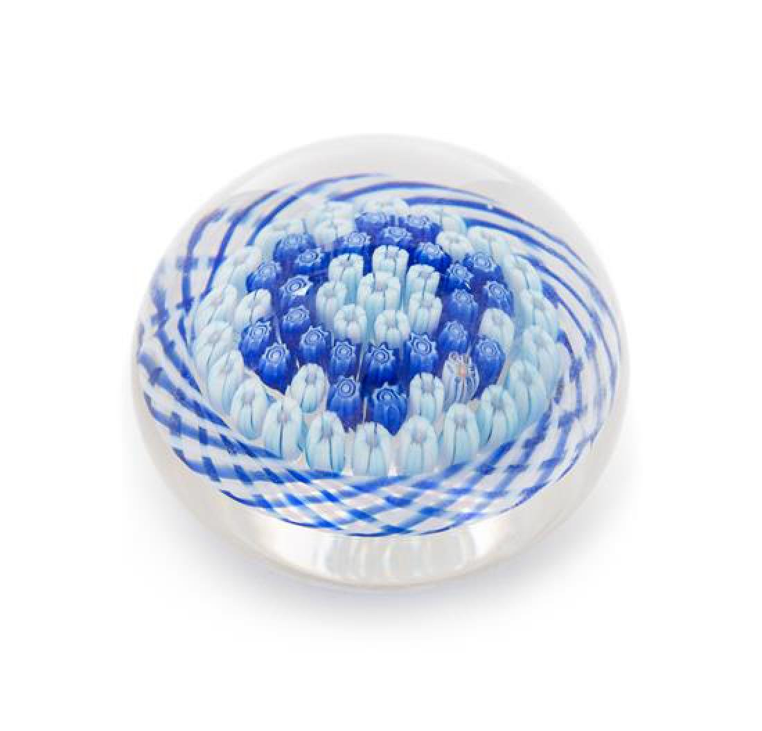 * Parabelle, USA, millefiori and torsade paperweight