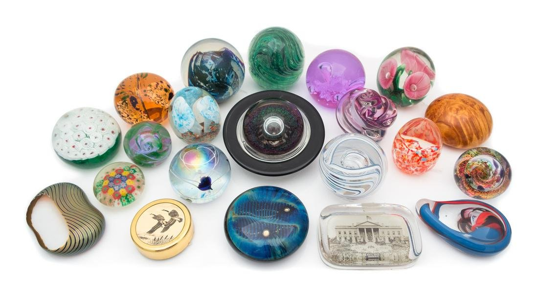 * A Collection of 21 Paperweights, Various Makers