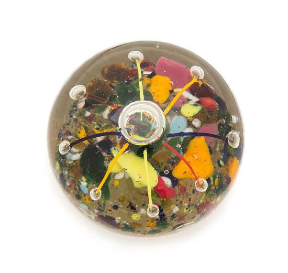 * A Bohemian Glass Paperweight Diameter 3 1/4 inches