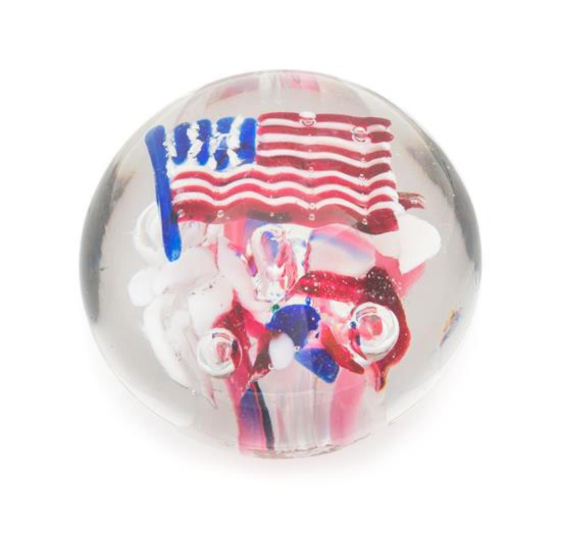 * An Antique American Patriotic Paperweight Diameter 3