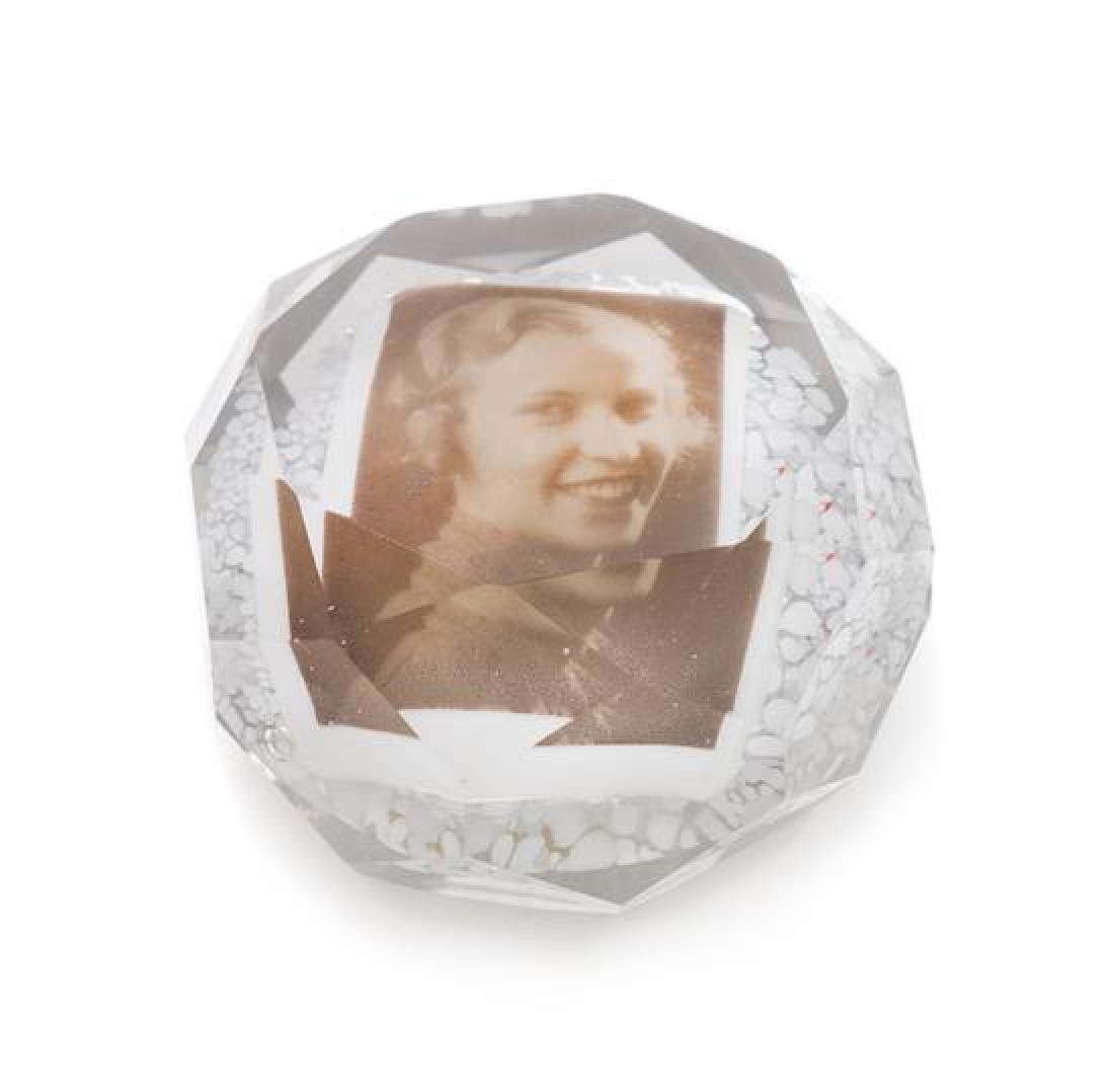 * An Antique Photo Paperweight Diameter 3 inches