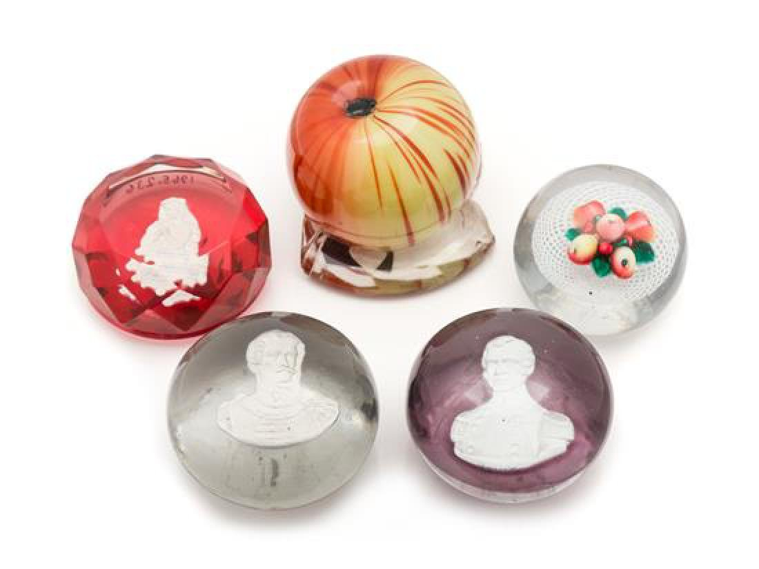 * A Miscellaneous Group of Four Paperweights Diameter