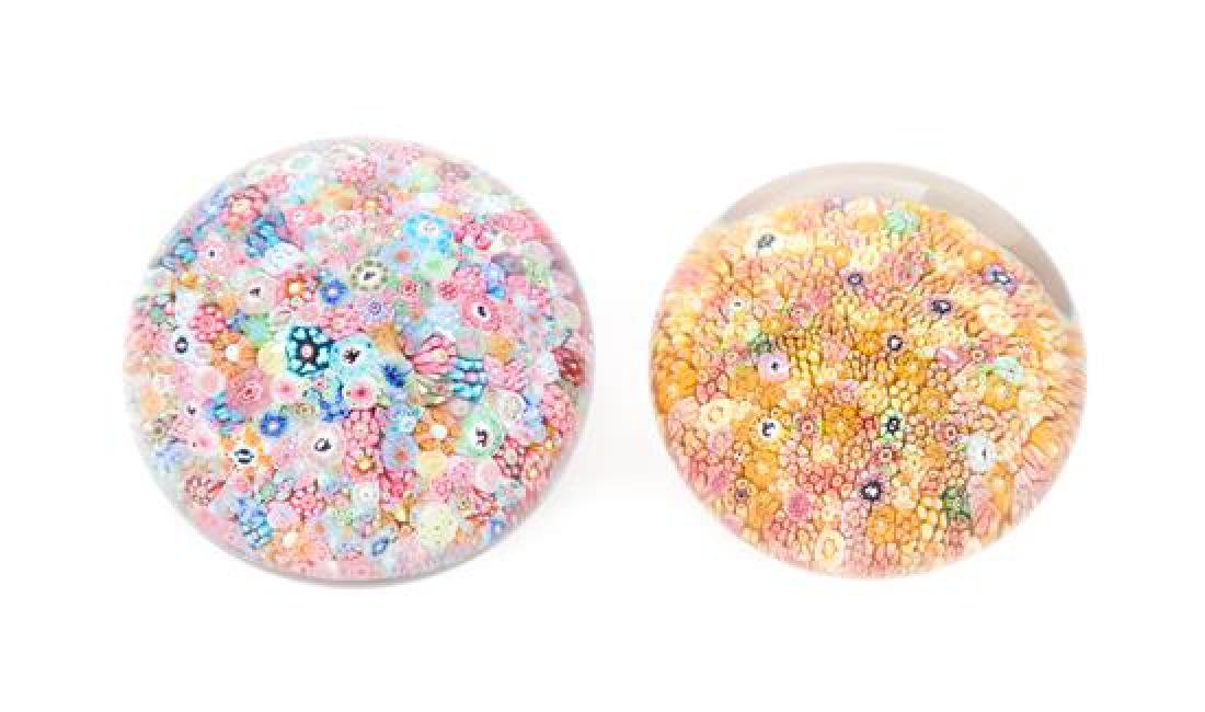 * Attributed to Baccarat, , two millefiori paperweights