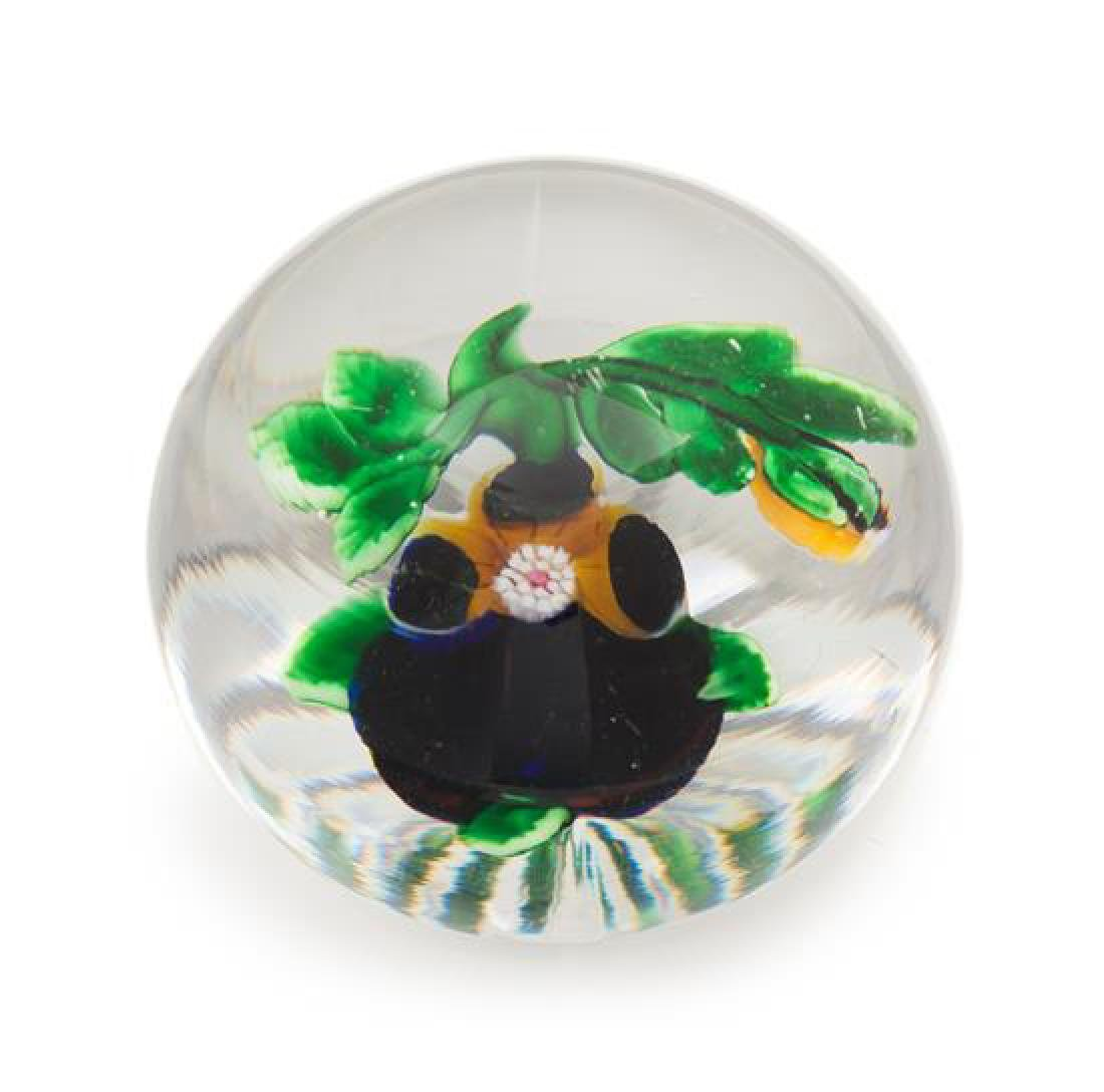 * Attributed to Baccarat , , a pansy paperweight