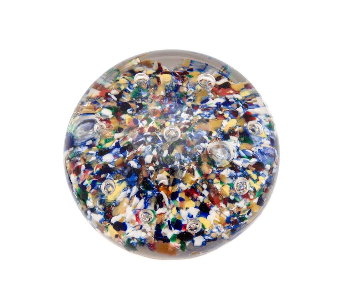 Attributed to Baccarat, , paperweight with scattered