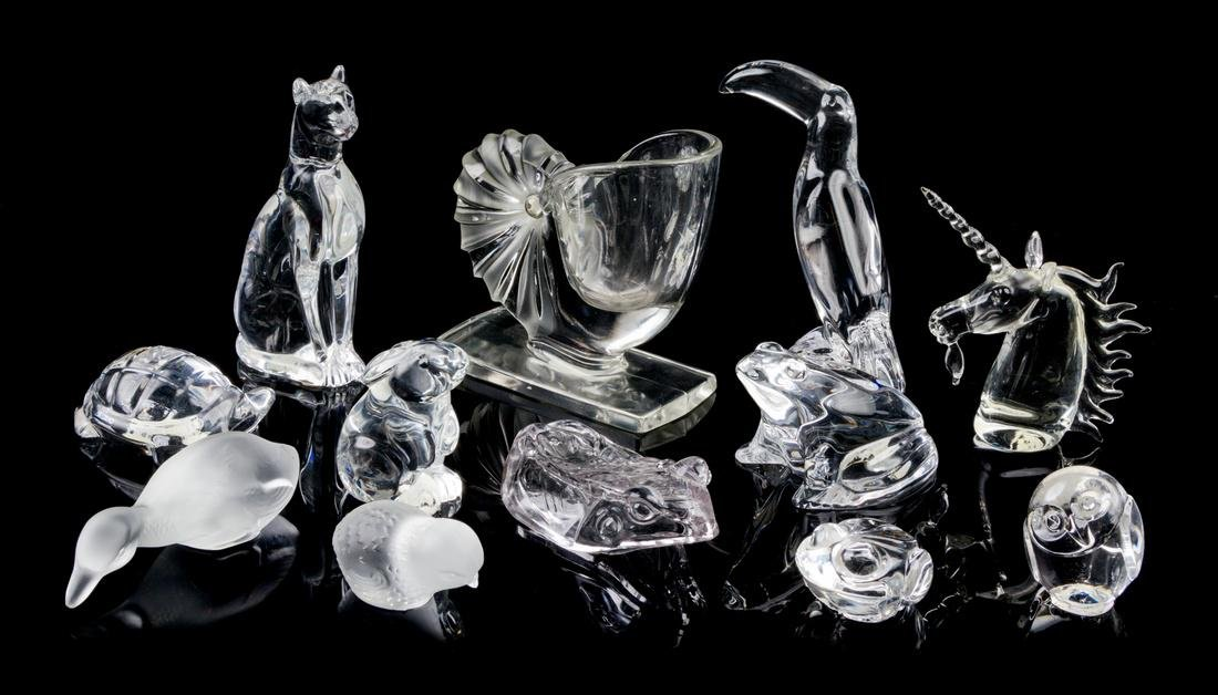 * Baccarat, , a collection of 12 frosted and clear