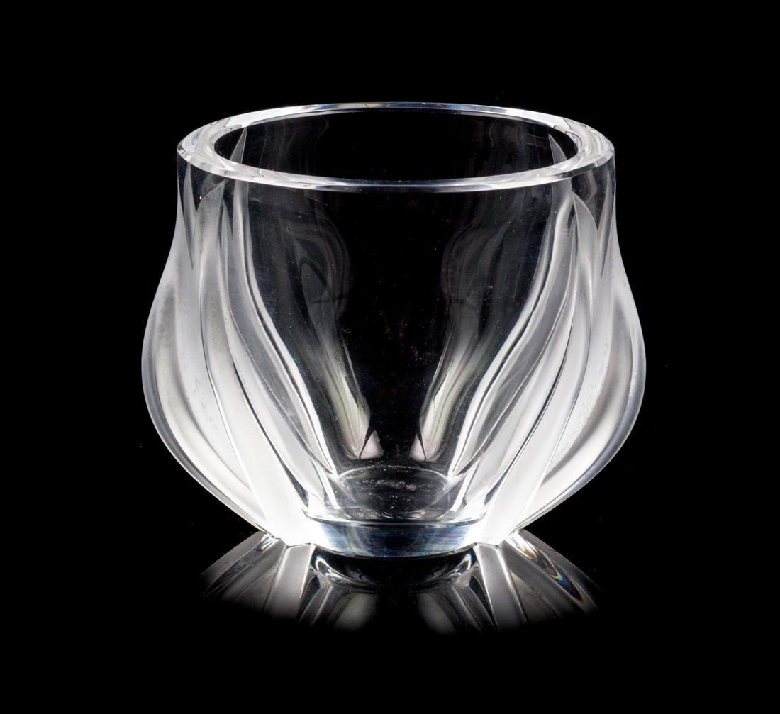 Lalique, , two tulips vase
