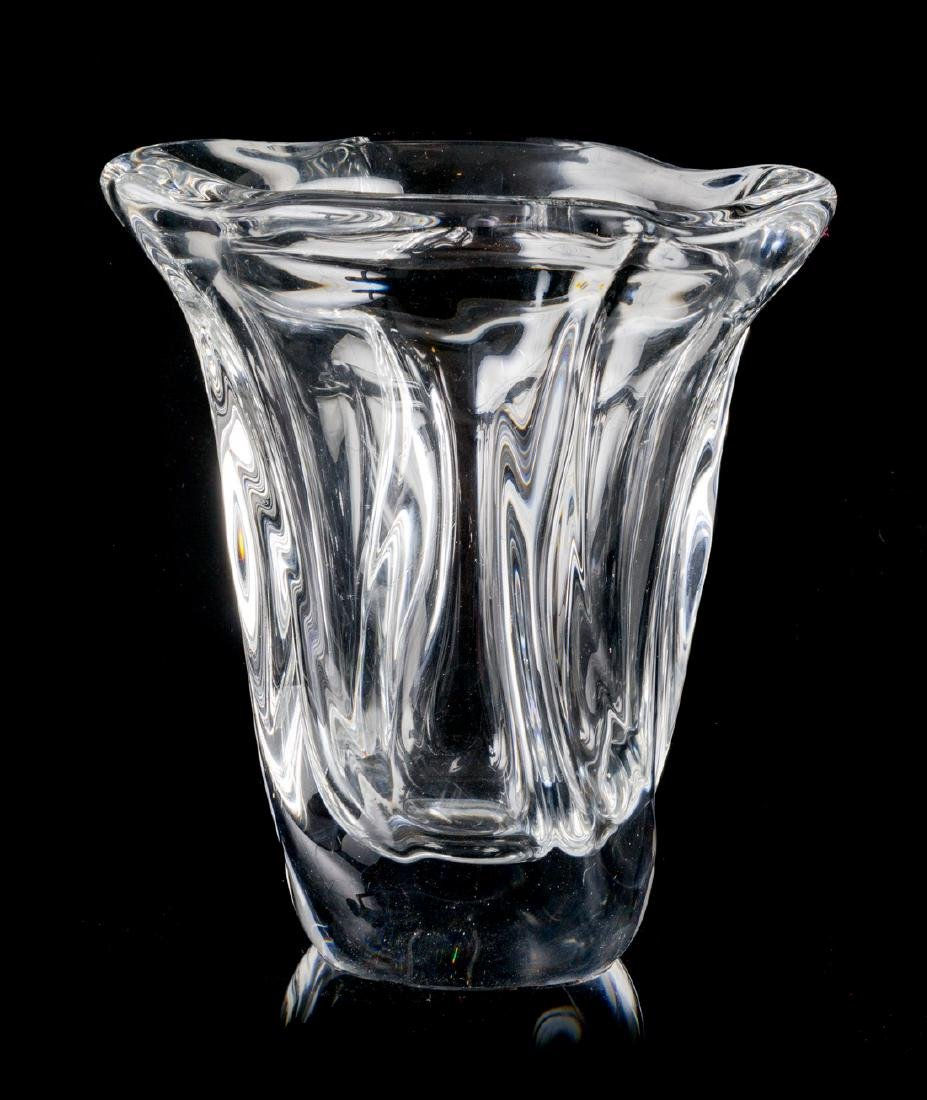 Daum, SECOND HALF 20TH CENTURY, a molded glass vase