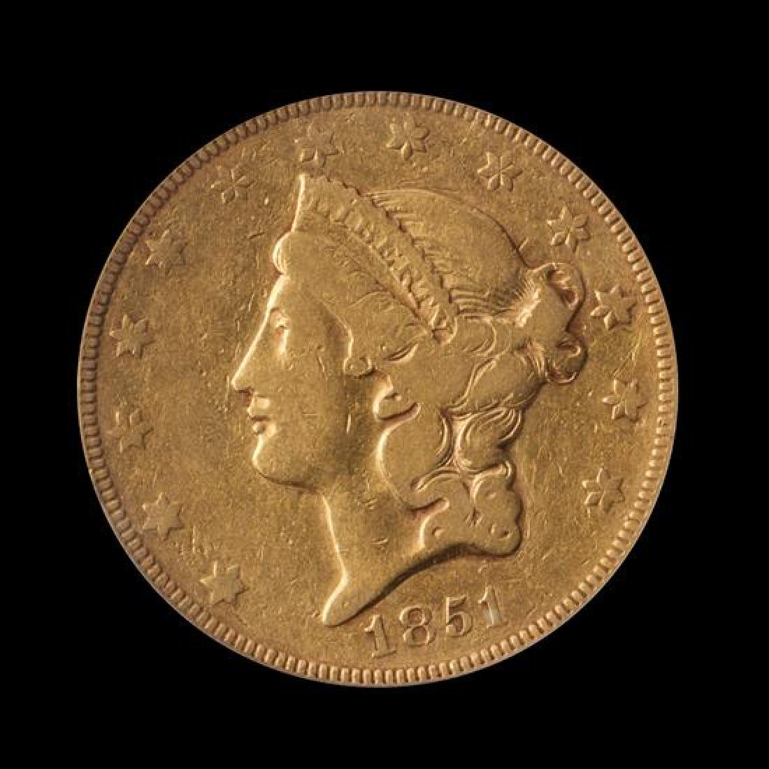 A United States 1851 Liberty Head $20 Gold Coin