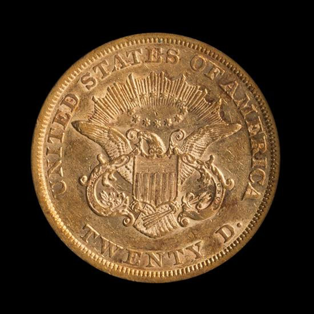 A United States 1851 Liberty Head $20 Gold Coin - 2