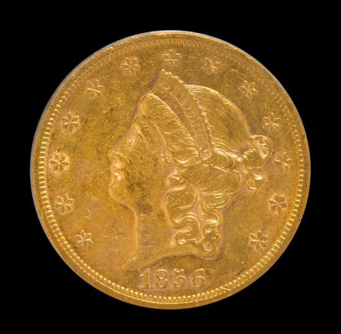 A United States 1856-S Liberty Head $20 Gold Coin