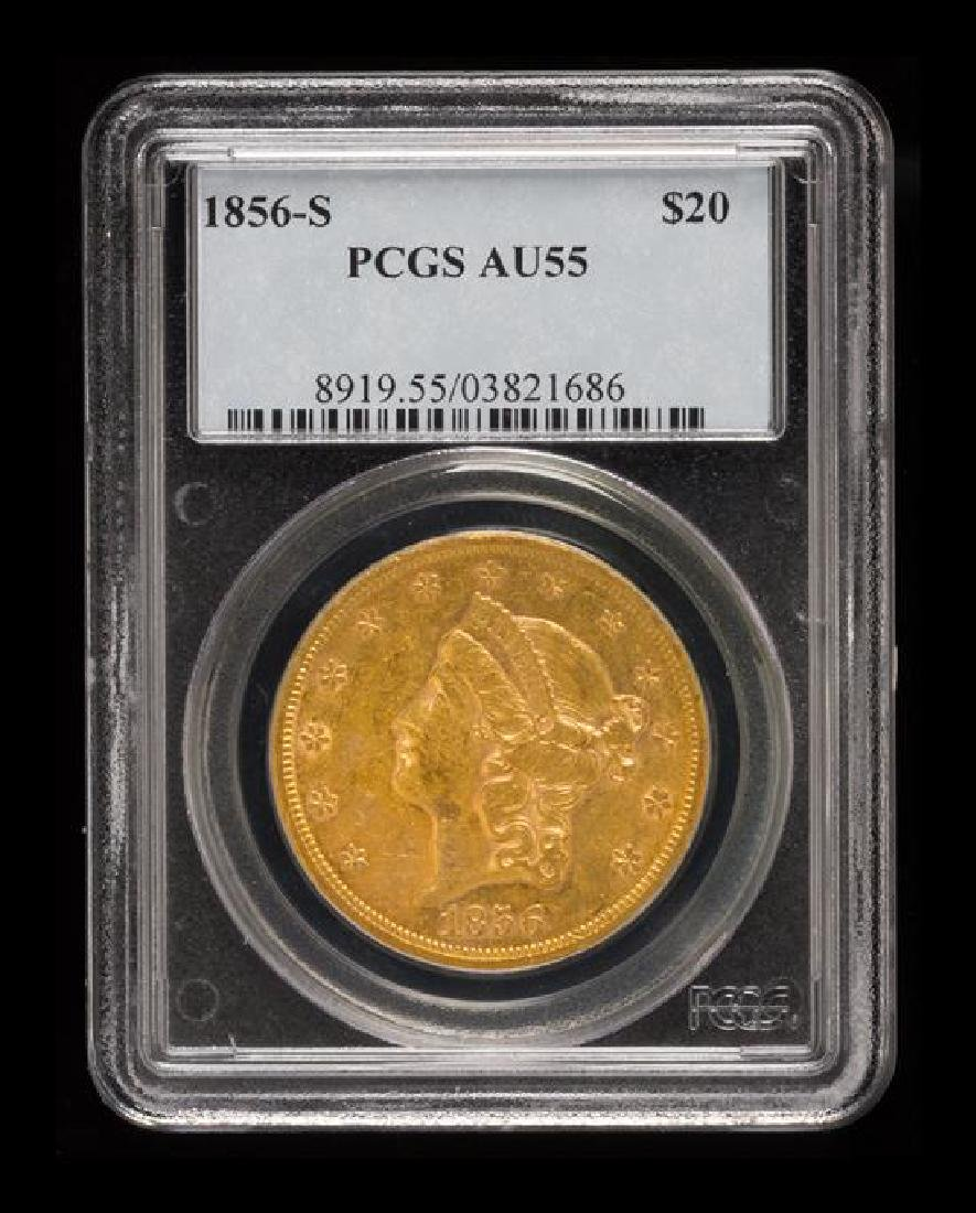 A United States 1856-S Liberty Head $20 Gold Coin - 3