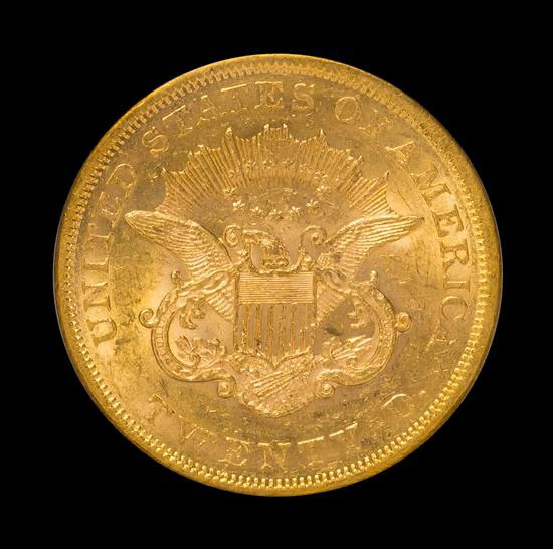 A United States 1860 Liberty Head $20 Gold Coin - 2
