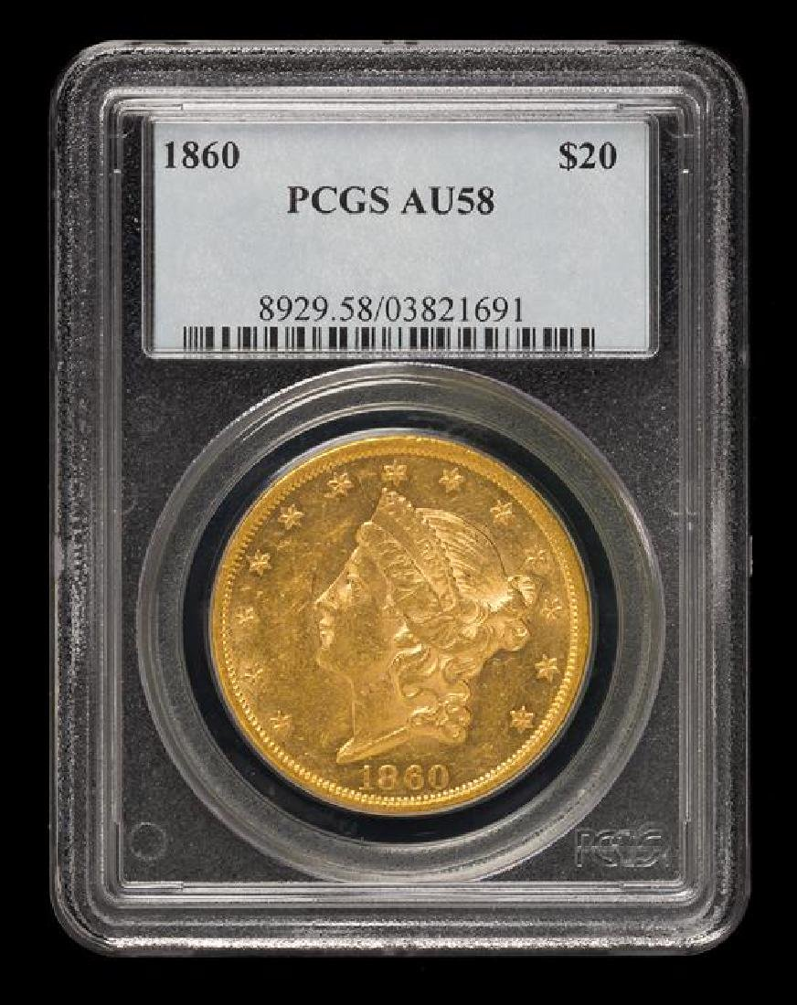 A United States 1860 Liberty Head $20 Gold Coin - 3