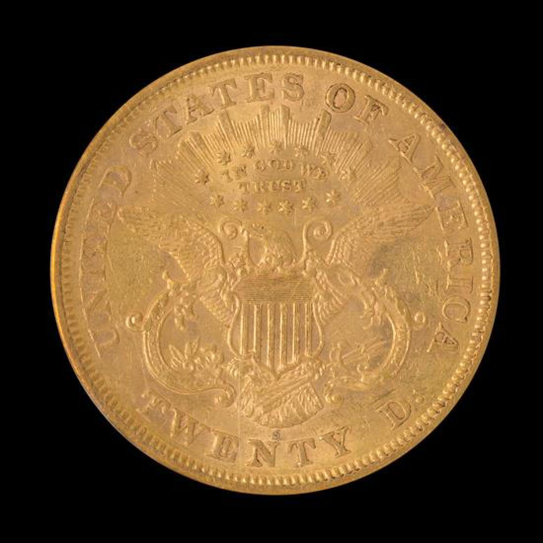A United States 1871-S Liberty Head $20 Gold Coin - 2