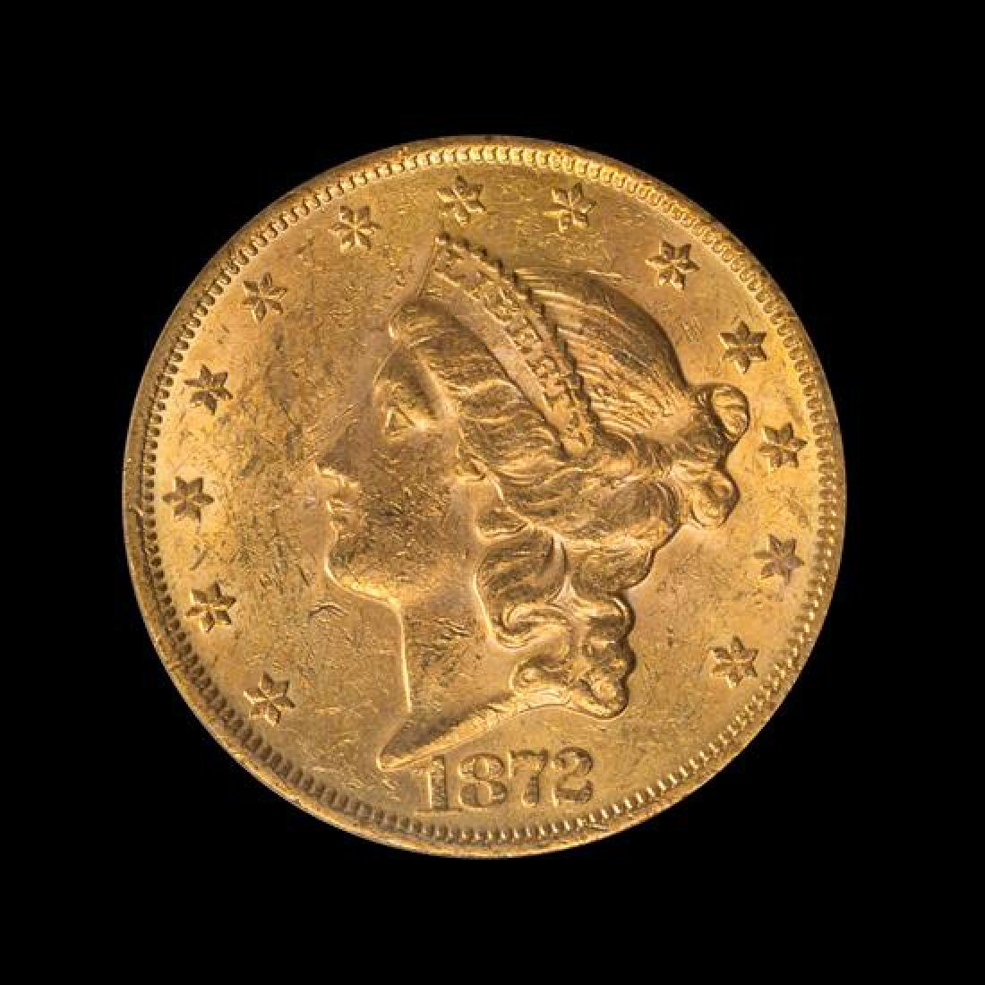 A United States 1872 Liberty Head $20 Gold Coin
