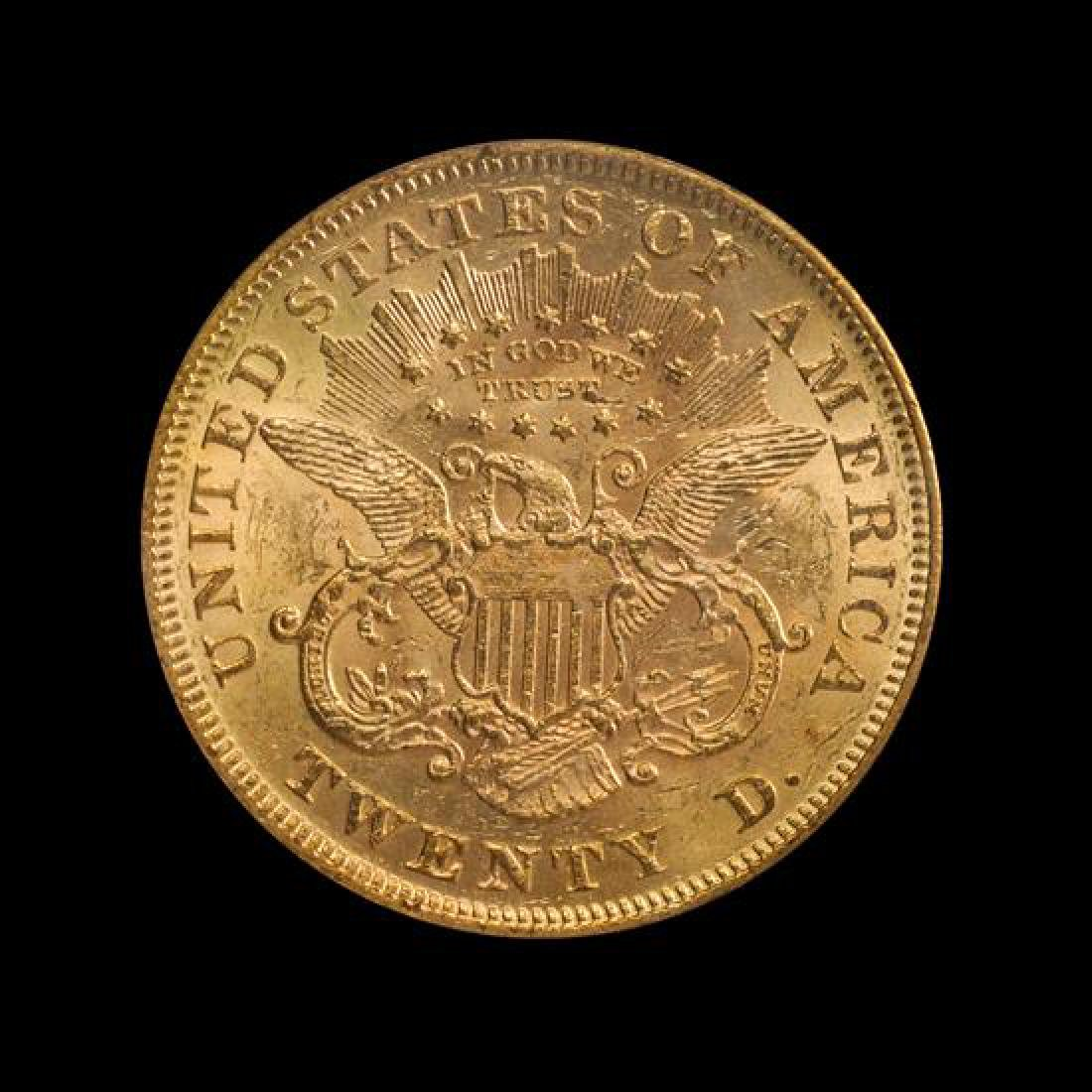 A United States 1872 Liberty Head $20 Gold Coin - 2